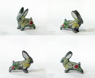 Spring Rabbit totem figurine by nicsadika