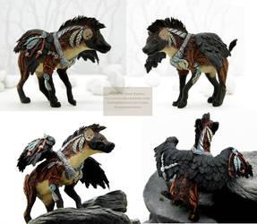 Winged Hyena by nicsadika