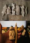 Wooden figurines by nicsadika