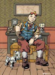 Tintin v.2.0 Steampunk by MaxHierro