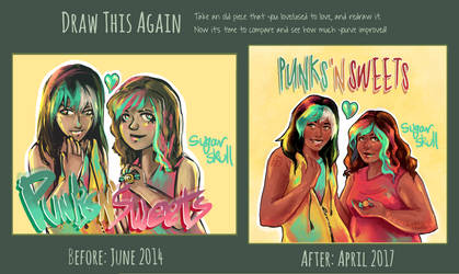 Punks 'N Sweets Redraw Comparison by ForeverSoaring