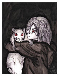 Child with a rat by Ajzan-Hataru