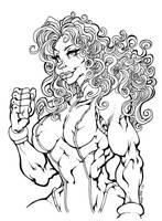 She Hulk line art by Kenji-Seay