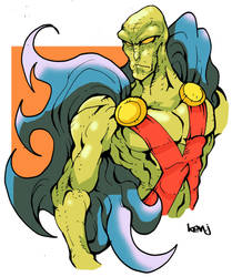 Martian Manhunter. by Kenji-Seay