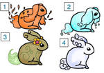 25 points Elemental Bunny Adopts (OPEN) 4/4 by Adopties-here