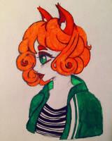 Fox girl doodle  by theinsanegirl16
