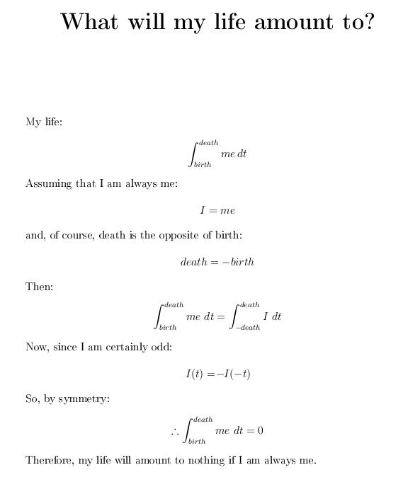 Mathematical Poem 1 by TheBeautyofViolence