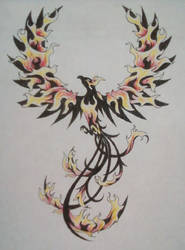 Phoenix Colored by TheMajesticCarnival