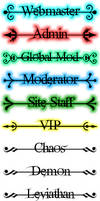 Glowing Forum Ranks by FrozenNightingale