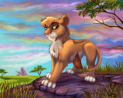 Vitani on the pridelands by Fur-kotka