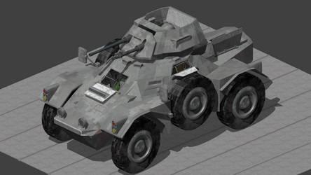 MK-VIII 'Hound'  Armored Reconnaissance Vehicle by wbyrd