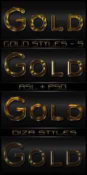 Gold styles - 5 by DiZa-74