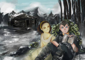 Atreus and Calliope [GOW] by reenoceros
