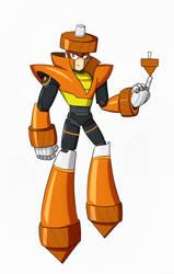 Mega Man: fully Charged Topman by Dynamo07X