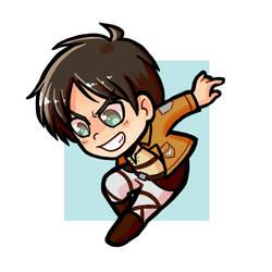 AoT: Eren Sticker by Hiyukee