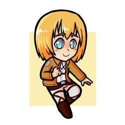 AoT: Armin Sticker by Hiyukee