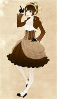 Steampunk lady by Lowenael