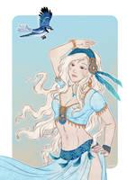 Blue birds by Lowenael