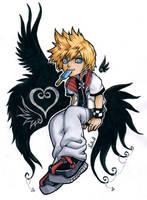 Roxas Kingdom Hearts 2 by Lowenael