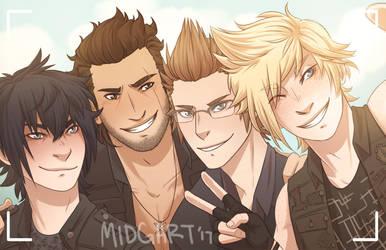 FFXV - Brothers by midgaardian