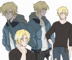 Banana Fish - Ash by midgaardian