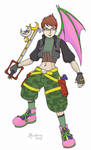 Kingdom Hearts self-portrait by neomeruru