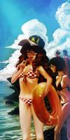 Beach Girl by redcode77