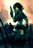 War Girl by redcode77