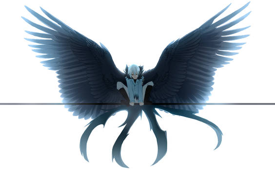 aaaaaaand another winged kuro by GR4CE-and-T0FFIE