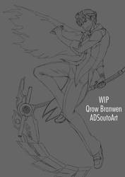 WIP Qrow Branwen by ADSouto