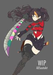 WIP - Tohsaka Rin, jeweled swordmagus by ADSouto