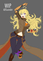WIP - Summer Time Yang Battle Suit by ADSouto