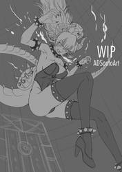 WIP - Bowsette - Sketch by ADSouto