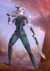 Rayla Shadowmoon Elf Assassin by ADSouto
