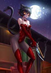 Kali Belladonna / Catgirl by ADSouto