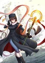Xuanzang Sanzang / winter suit - Fate/GO by ADSouto