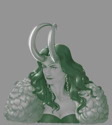 Lady Loki - Paints by MerianMoriarty