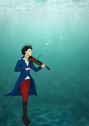 Underwater Violinist by mish-mash-tan