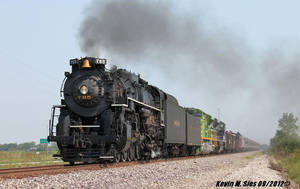 NKP 765 with IT 1072 and Wabash 1070 NS 099 by EternalFlame1891
