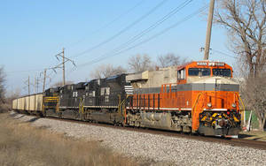 Interstate # 8105 and NKP # 8100 lead 432 coal by EternalFlame1891