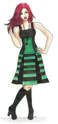 The Green Dress by Dark-Lost-Soul