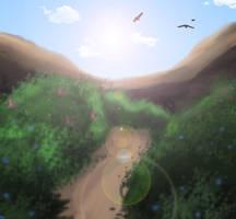 A mountain Sky - Background by xxMileikaIvanaxx