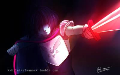 Deltarune - Lightner Hero Kris by xxMileikaIvanaxx