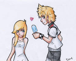 roxas and namine by ddrbean