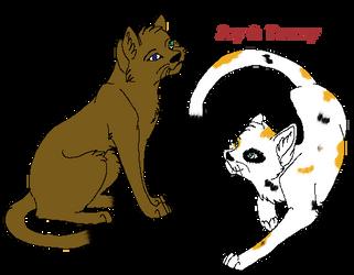 Ivynose and Tawnyheart by xEchobreezex