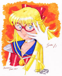 Sailor V, Hurricane Venus? by TheDreamingArtist