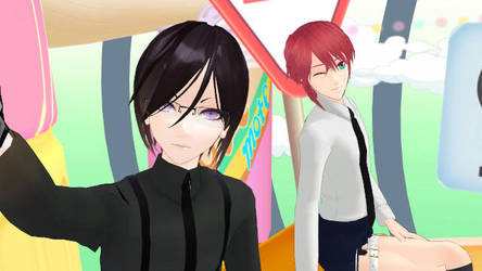 MMD Drop Pop Candy by Yagen and Shinano by Rayray0211