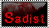Sadist Stamp by black-roses-falling