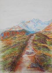 Eriador Towards the Misty Mountains by ArwendeLuhtiene
