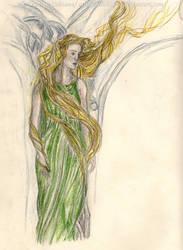 Rivendell Elf woman [Alan Lee study] by ArwendeLuhtiene